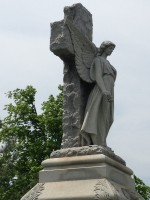 angel grave marker'