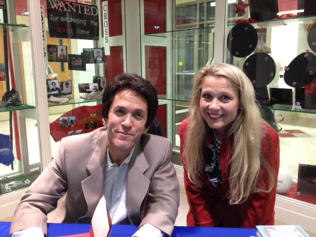 Christina with bestselling author, Mitch Albom who happens to be a favorite
